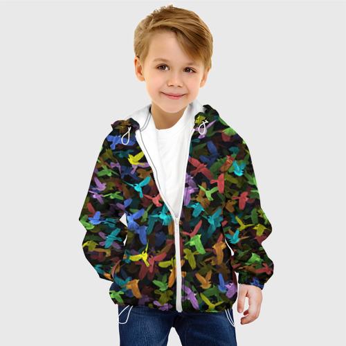 Детская куртка 3D  Фото 03, Разноцветные птички