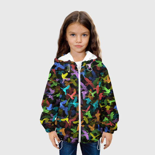 Детская куртка 3D  Фото 04, Разноцветные птички