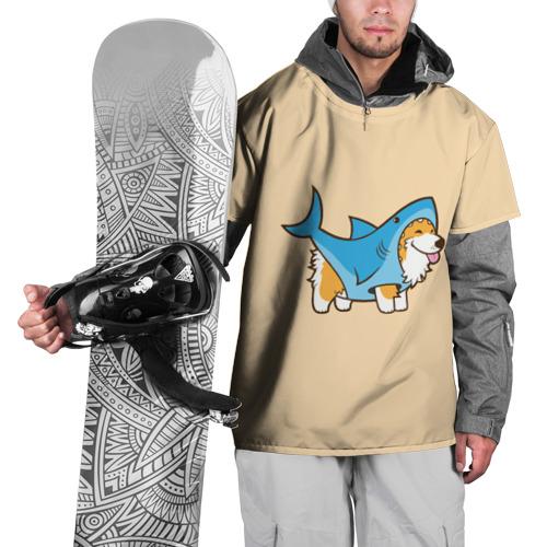 Накидка на куртку 3D  Фото 01, Пес-акула