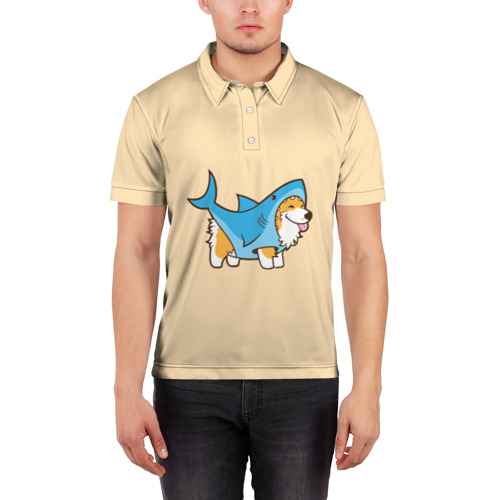 Мужская рубашка поло 3D  Фото 03, Пес-акула