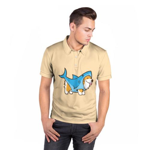 Мужская рубашка поло 3D  Фото 05, Пес-акула