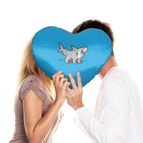 Подушка 3D сердце  Фото 03, Акула мутант 5