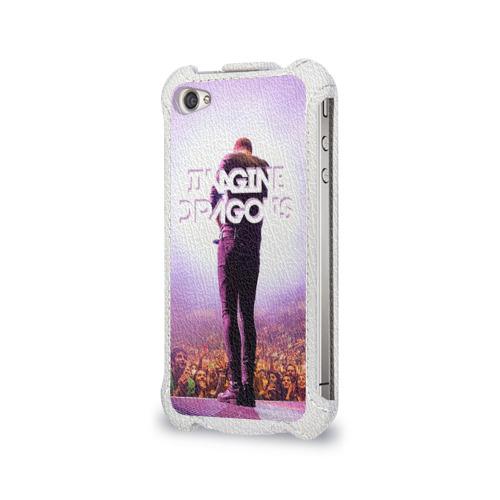 Чехол для Apple iPhone 4/4S flip  Фото 03, Pink
