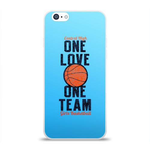 Чехол для Apple iPhone 6 силиконовый глянцевый  Фото 01, Одна любовь, одна команда