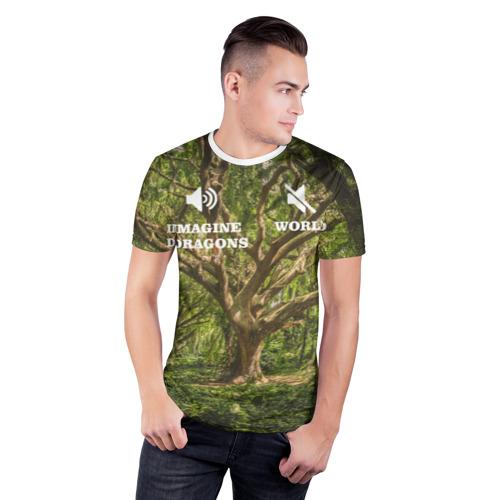 Мужская футболка 3D спортивная Imagine dragons