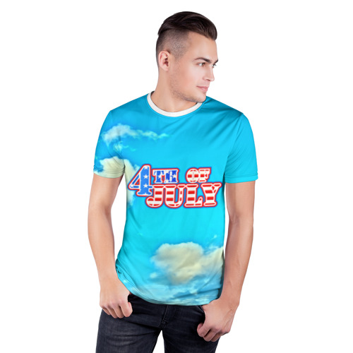 Мужская футболка 3D спортивная  Фото 03, День независимости США