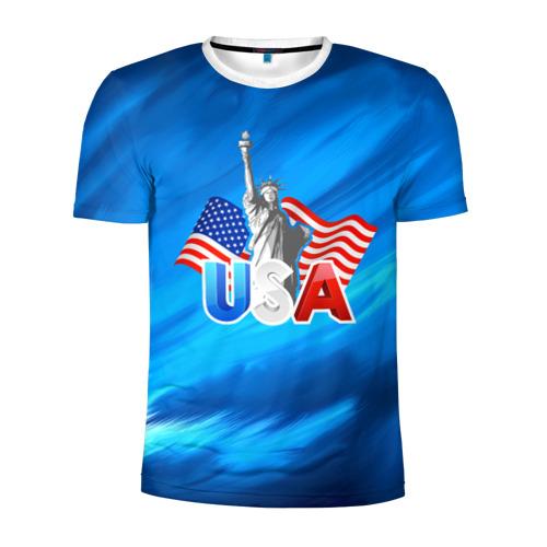 Мужская футболка 3D спортивная  Фото 01, USA