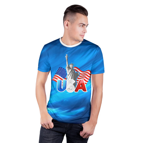 Мужская футболка 3D спортивная  Фото 03, USA