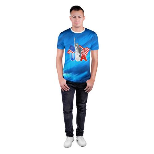 Мужская футболка 3D спортивная  Фото 04, USA