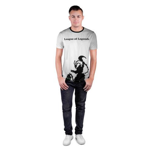 Мужская футболка 3D спортивная  Фото 04, Fear