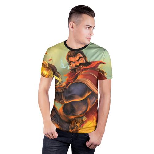 Мужская футболка 3D спортивная  Фото 03, Gun