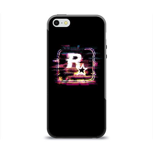 Чехол для Apple iPhone 5/5S силиконовый глянцевый  Фото 01, Rockstar Noise
