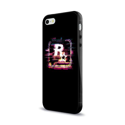 Чехол для Apple iPhone 5/5S силиконовый глянцевый  Фото 03, Rockstar Noise