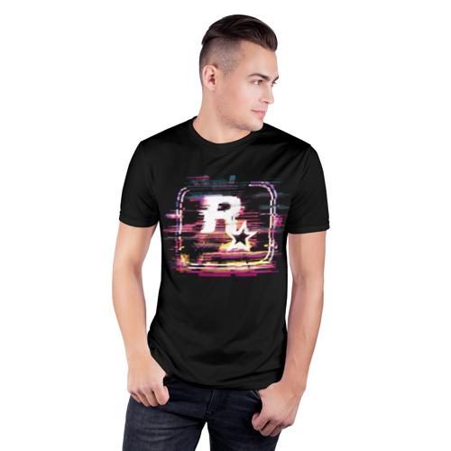 Мужская футболка 3D спортивная  Фото 03, Rockstar Noise