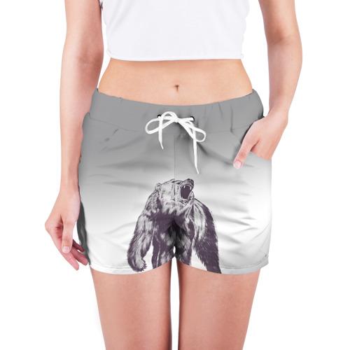 Женские шорты 3D  Фото 03, Медведь наступил на лего
