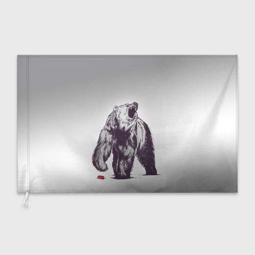 Флаг 3D  Фото 03, Медведь наступил на лего