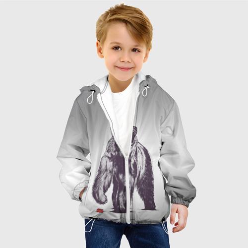 Детская куртка 3D  Фото 03, Медведь наступил на лего