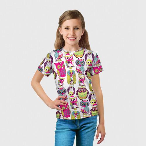 Детская футболка 3D Совы Фото 01