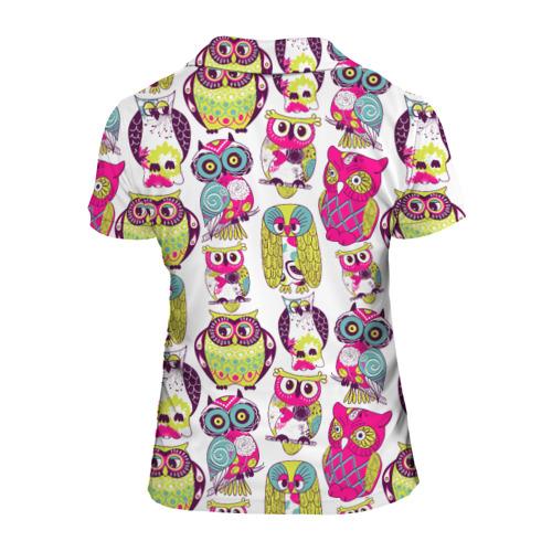 Женская рубашка поло 3D Совы Фото 01