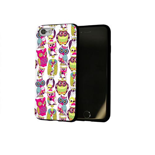 Чехол для Apple iPhone 8 силиконовый глянцевый Совы Фото 01