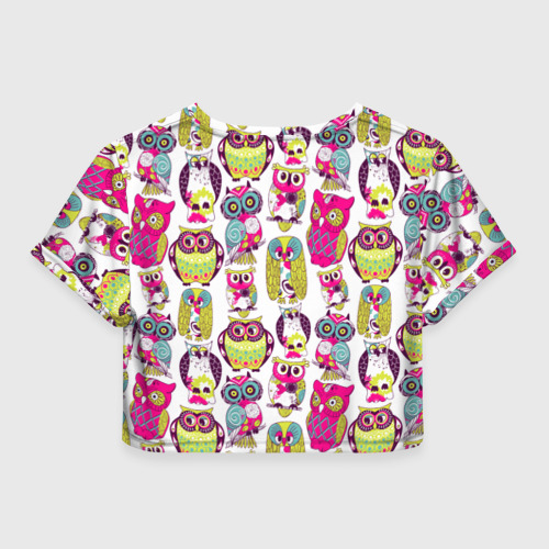 Женская футболка Crop-top 3D Совы Фото 01