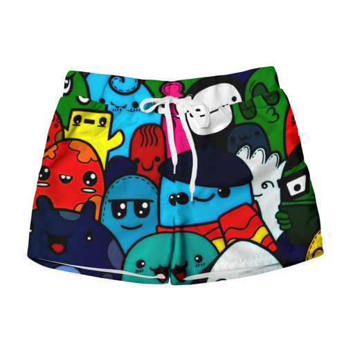 Женские шорты 3D  Фото 01, Монстрбомбинг