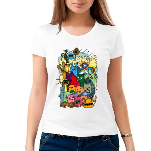 Женская футболка хлопок  Фото 03, Монстрики