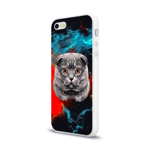 Чехол для Apple iPhone 5/5S силиконовый глянцевый  Фото 03, Космический кот