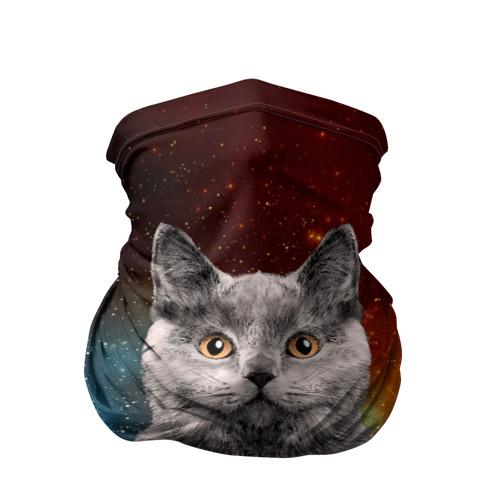 Бандана-труба 3D Кот в космосе!
