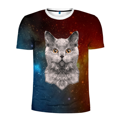Мужская футболка 3D спортивная  Фото 01, Кот в космосе!