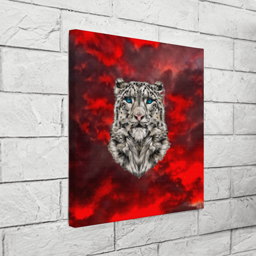 Холст квадратный  Фото 03, Леопард