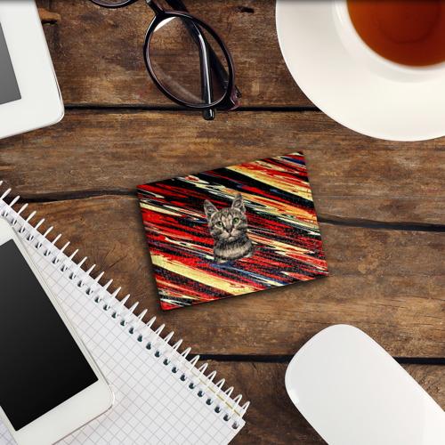 Обложка для студенческого билета Кот в разводах Фото 01