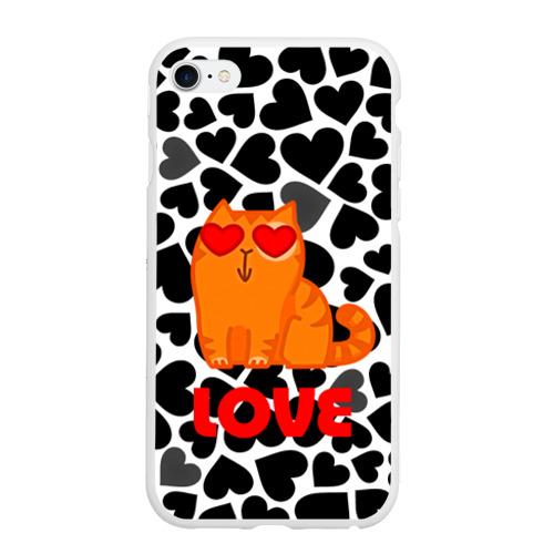 Чехол для iPhone 6Plus/6S Plus матовый Влюбленный котик Фото 01
