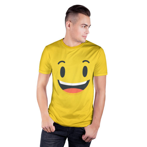 Мужская футболка 3D спортивная  Фото 03, Улыбайся