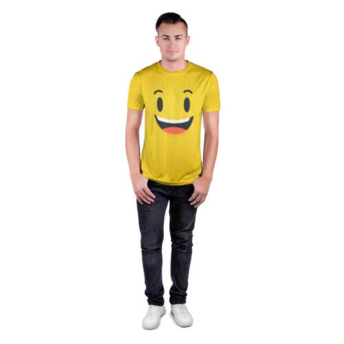 Мужская футболка 3D спортивная  Фото 04, Улыбайся