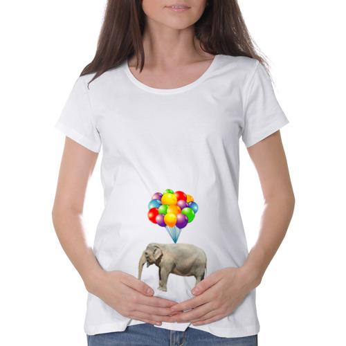 Футболка для беременных хлопок  Фото 01, Воздушный слоник