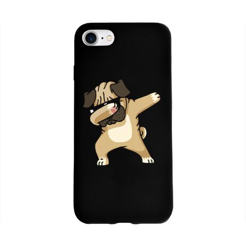 Чехол для Apple iPhone 8 силиконовый глянцевый Dog dab Фото 01
