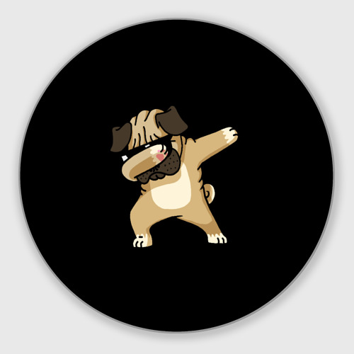 Коврик для мышки круглый Dog dab Фото 01