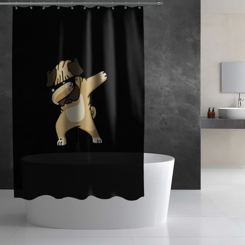 Штора 3D для ванной Dog dab Фото 01