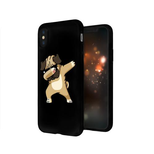 Чехол для Apple iPhone X силиконовый глянцевый Dog dab Фото 01