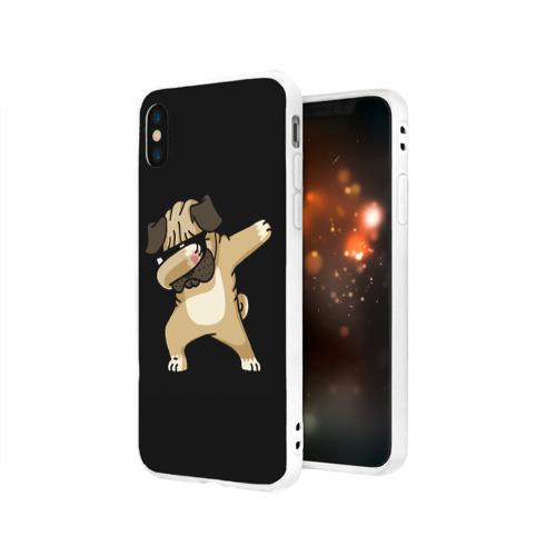 Чехол для Apple iPhone X силиконовый матовый Dog dab Фото 01
