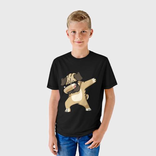 Детская футболка 3D Dog dab