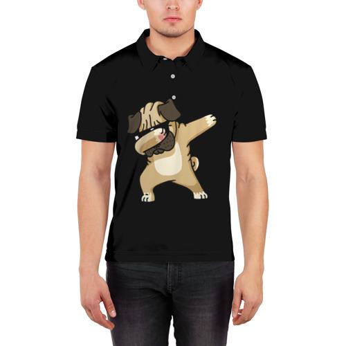 Мужская рубашка поло 3D Dog dab Фото 01