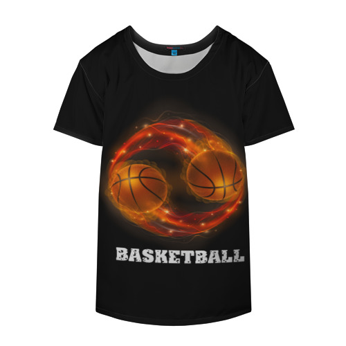 Накидка на куртку 3D  Фото 04, basketball fire