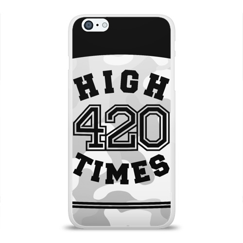 Чехол для Apple iPhone 6Plus/6SPlus силиконовый глянцевый  Фото 01, High Times 420 Camo