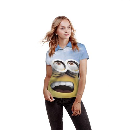 Женская рубашка поло 3D  Фото 03, Миньоны