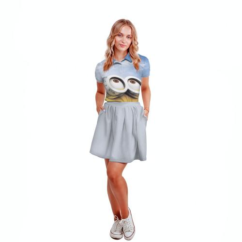 Женская рубашка поло 3D  Фото 04, Миньоны