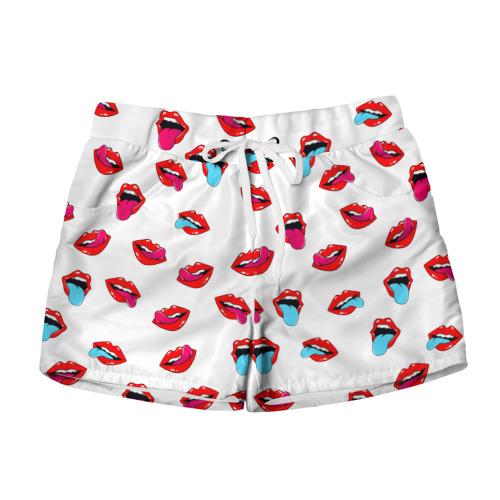 Женские шорты 3D  Фото 01, Игривые губы