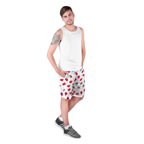 Мужские шорты 3D  Фото 03, Игривые губы