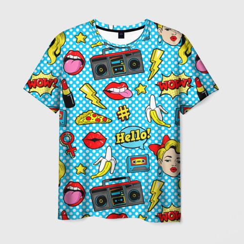 Мужская футболка 3D  Фото 01, Девочка из комикса